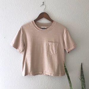 64763a2f955179 Madewell Tops - Madewell Garment-Dyed Easy Crop Tee